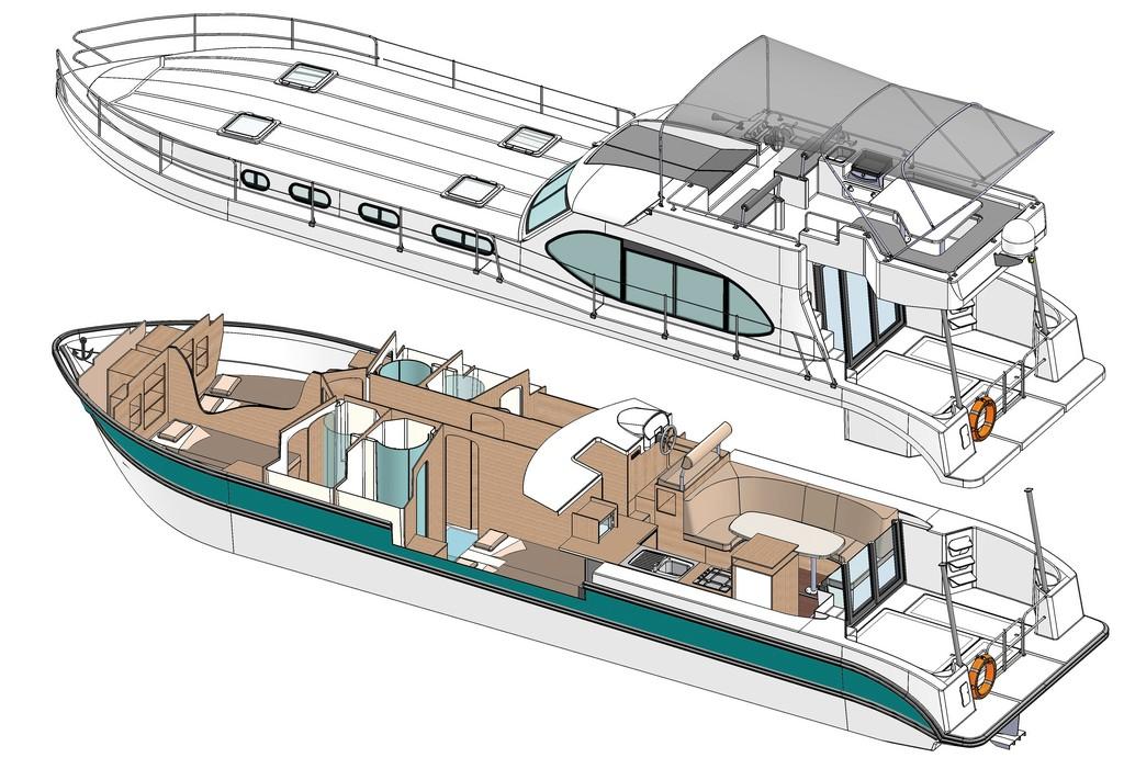 Tourisme fluvial avec bateaux sans permis - Estivale