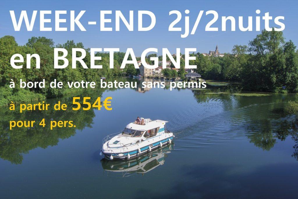 Racines Voyages : Week-end 2 jours / 2 nuits à bord de votre bateau fluvial sans permis